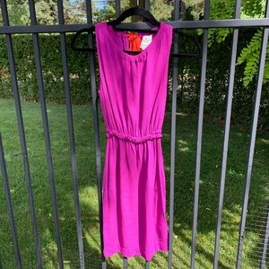 Kate Spade Purple Dress with Coral Tie